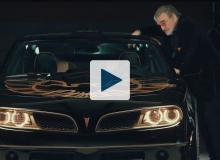 Burt Reynolds and the new Bandit Trans Am
