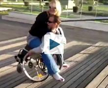 Couple in a wheelchair