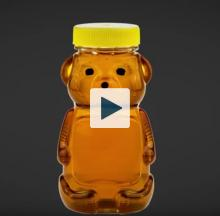 Bear shaped honey container