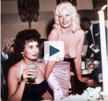 Famous photo of Jayne Mansfield and Sophia Loren
