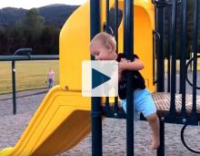 Kid falling off playground