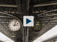 Clocks in a railway station