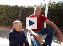 Verne Troyer and his dad, Reuben Troyer